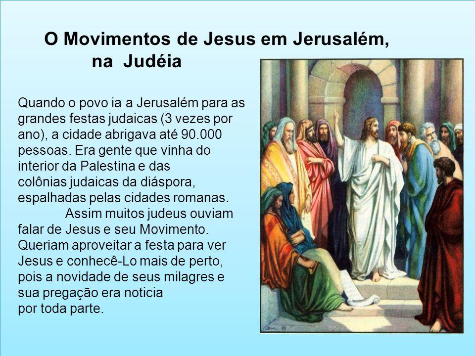 O Movimentos de Jesus em Jerusalém, na Judéia