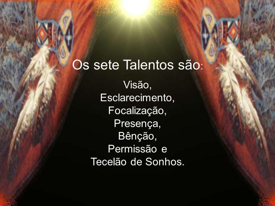Os sete Talentos são: Visão, Esclarecimento, Focalização, Presença,