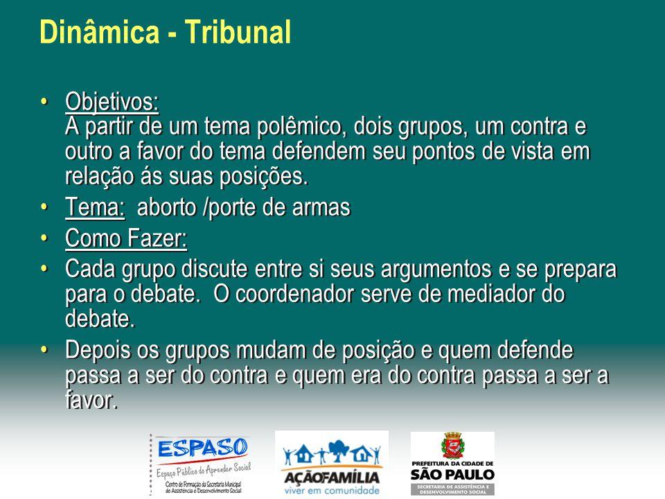 Dinâmica - Tribunal