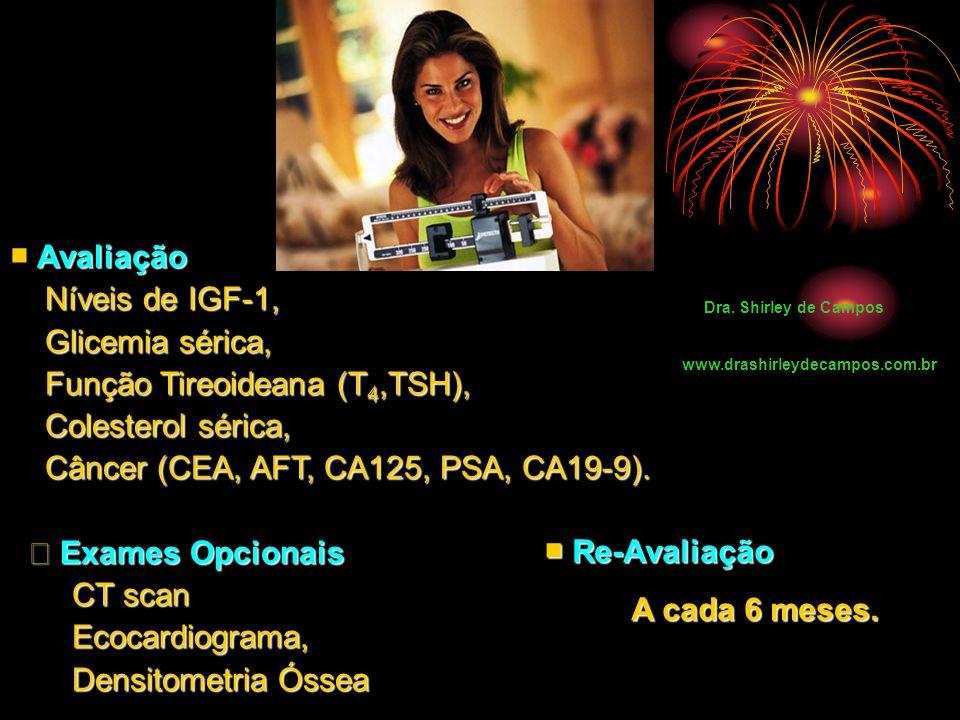 Função Tireoideana (T4,TSH), Colesterol sérica,