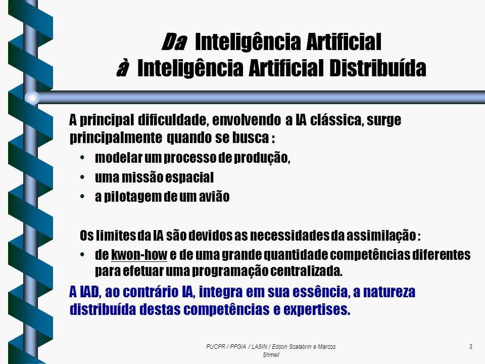Da Inteligência Artificial à Inteligência Artificial Distribuída