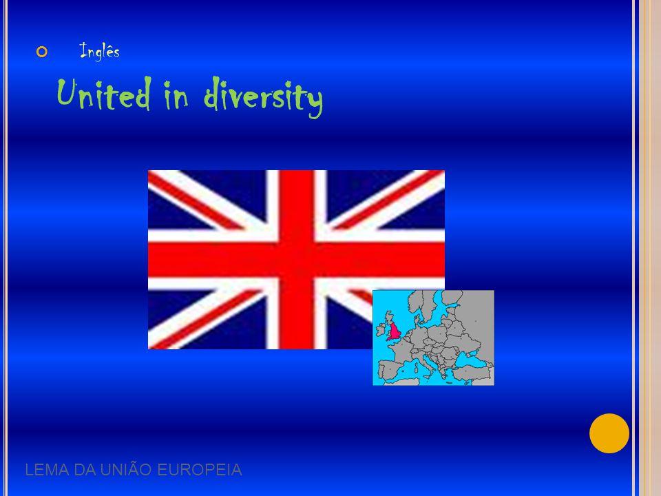Inglês United in diversity