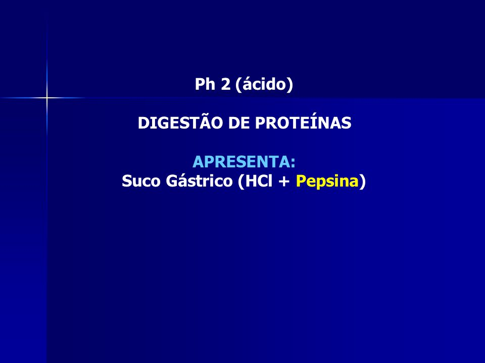 Suco Gástrico (HCl + Pepsina)