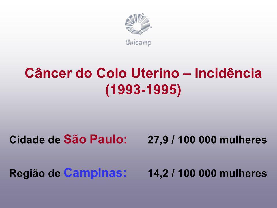 Unicamp Câncer do Colo Uterino – Incidência (1993-1995)