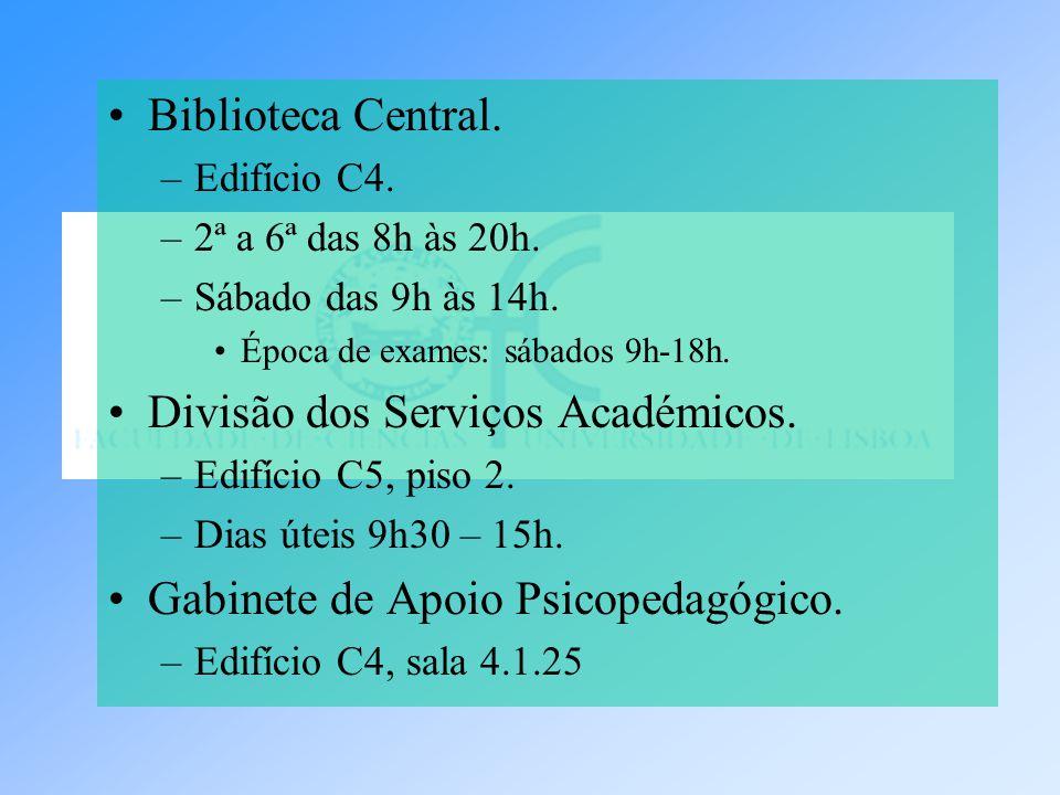 Divisão dos Serviços Académicos.
