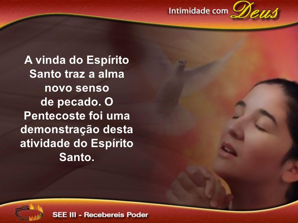 A vinda do Espírito Santo traz a alma novo senso