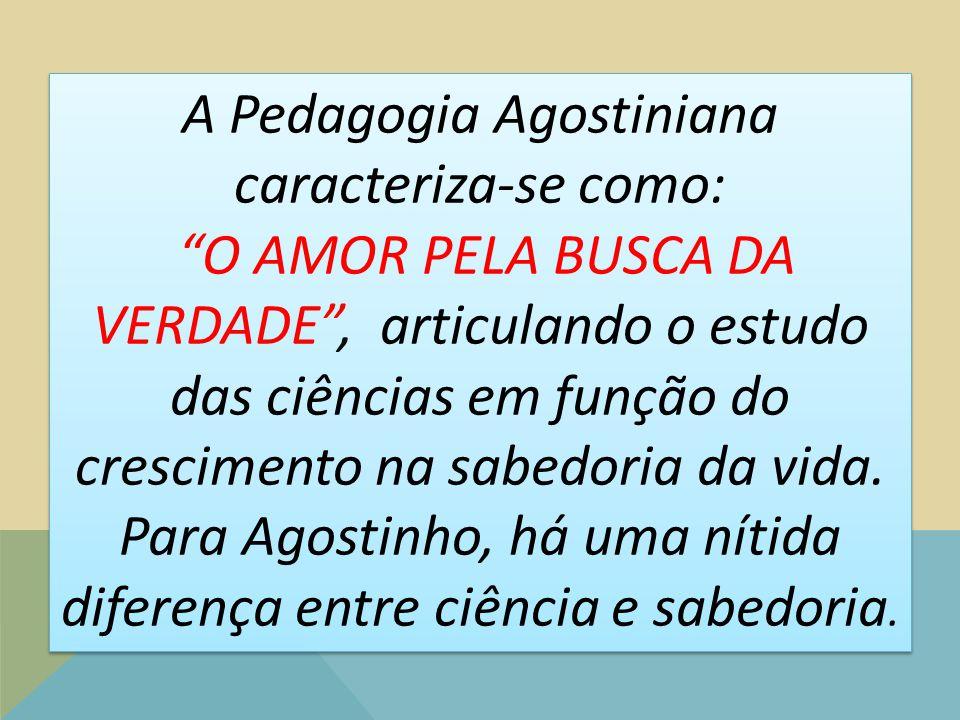 A Pedagogia Agostiniana caracteriza-se como: