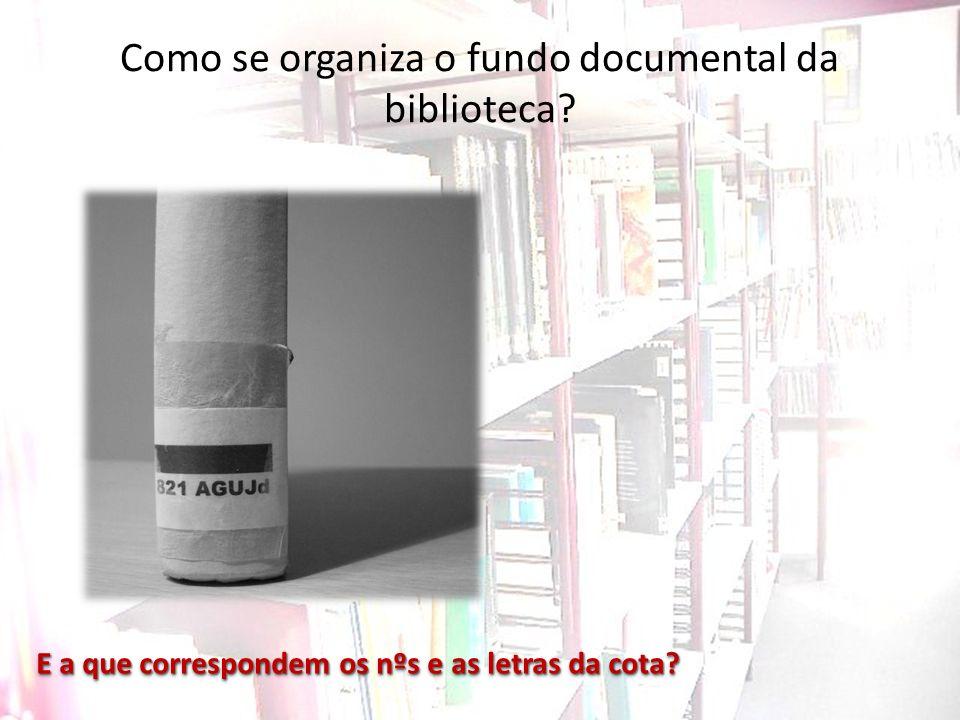 Como se organiza o fundo documental da biblioteca