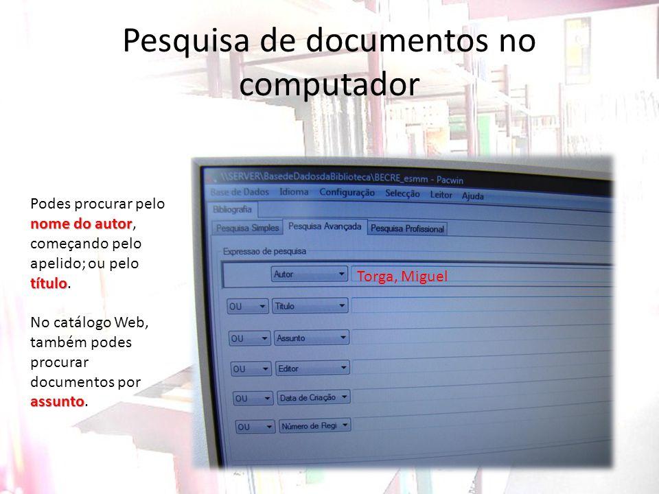 Pesquisa de documentos no computador