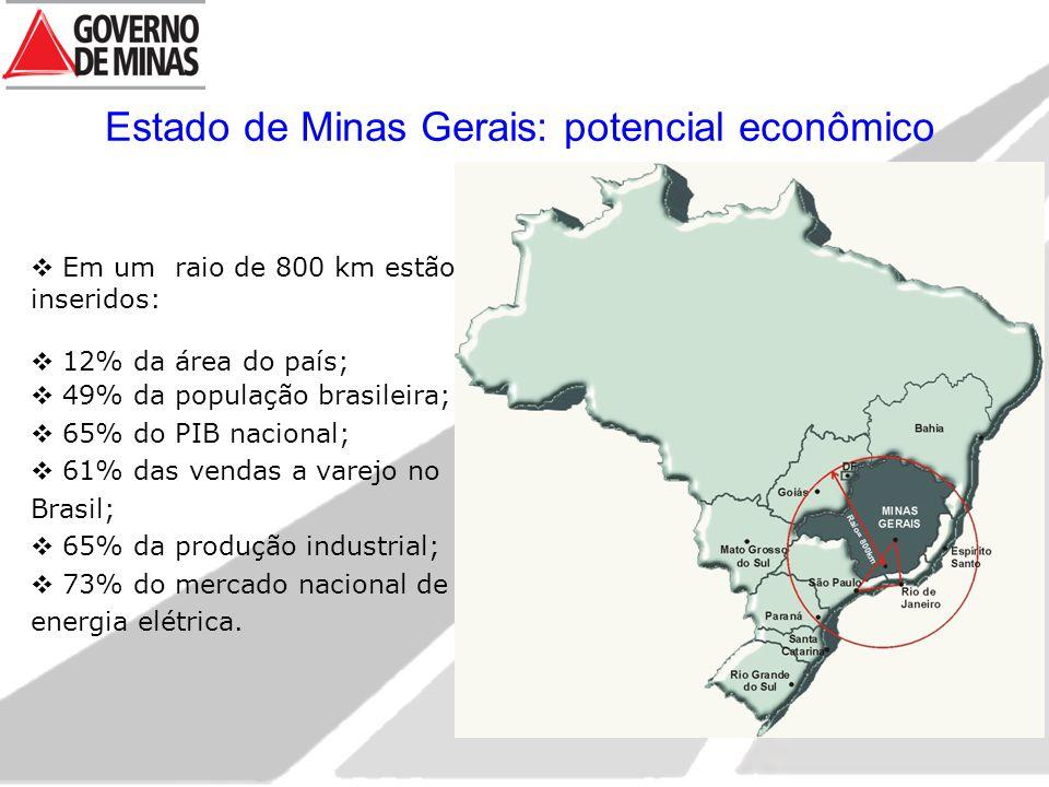 Estado de Minas Gerais: potencial econômico