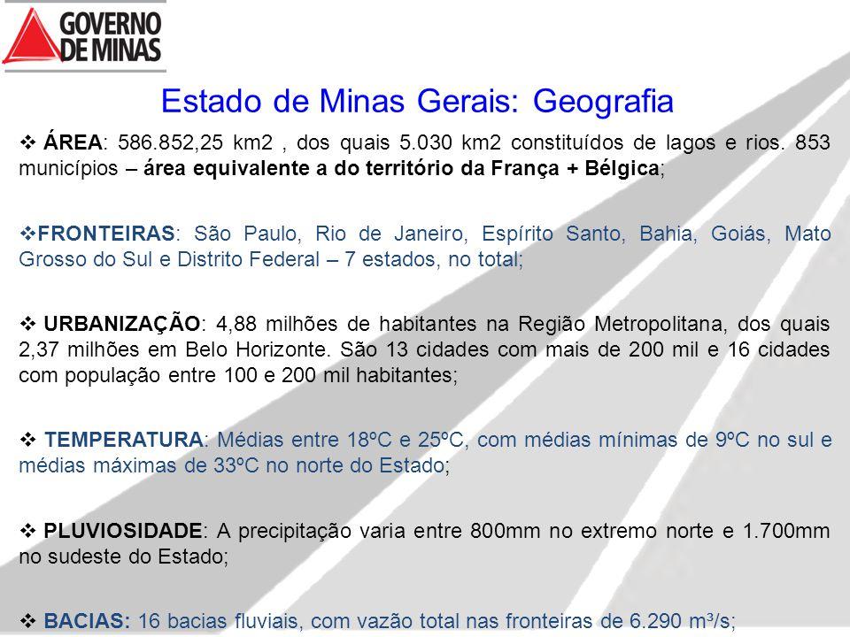 Estado de Minas Gerais: Geografia