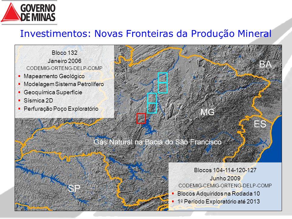 BA ES SP Investimentos: Novas Fronteiras da Produção Mineral MG