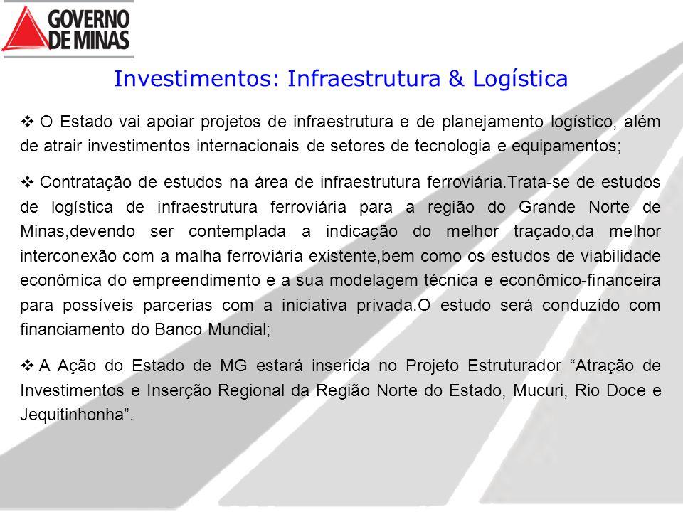 Investimentos: Infraestrutura & Logística