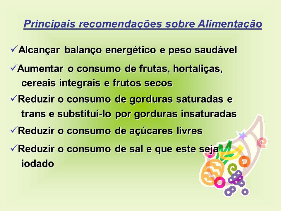 Principais recomendações sobre Alimentação