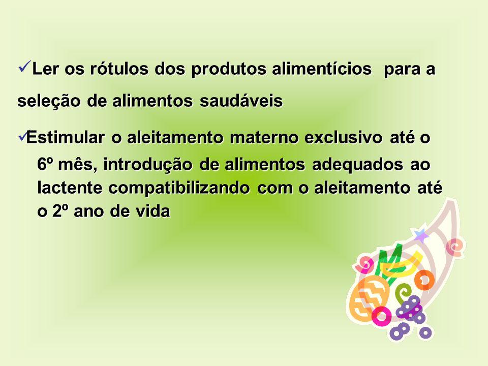 Ler os rótulos dos produtos alimentícios para a seleção de alimentos saudáveis