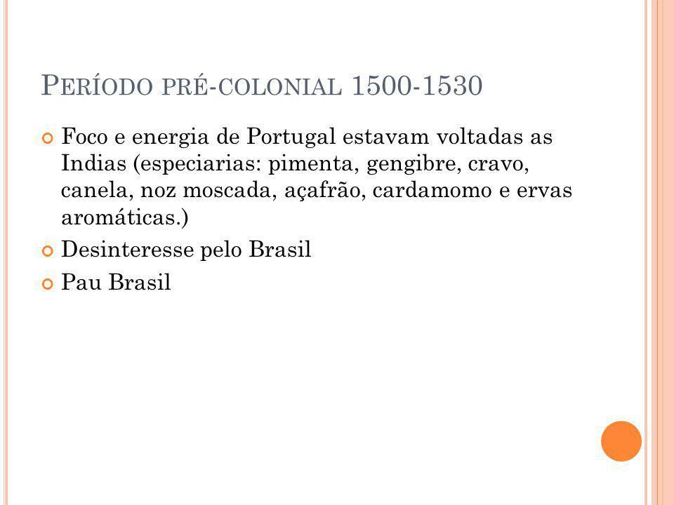Período pré-colonial 1500-1530