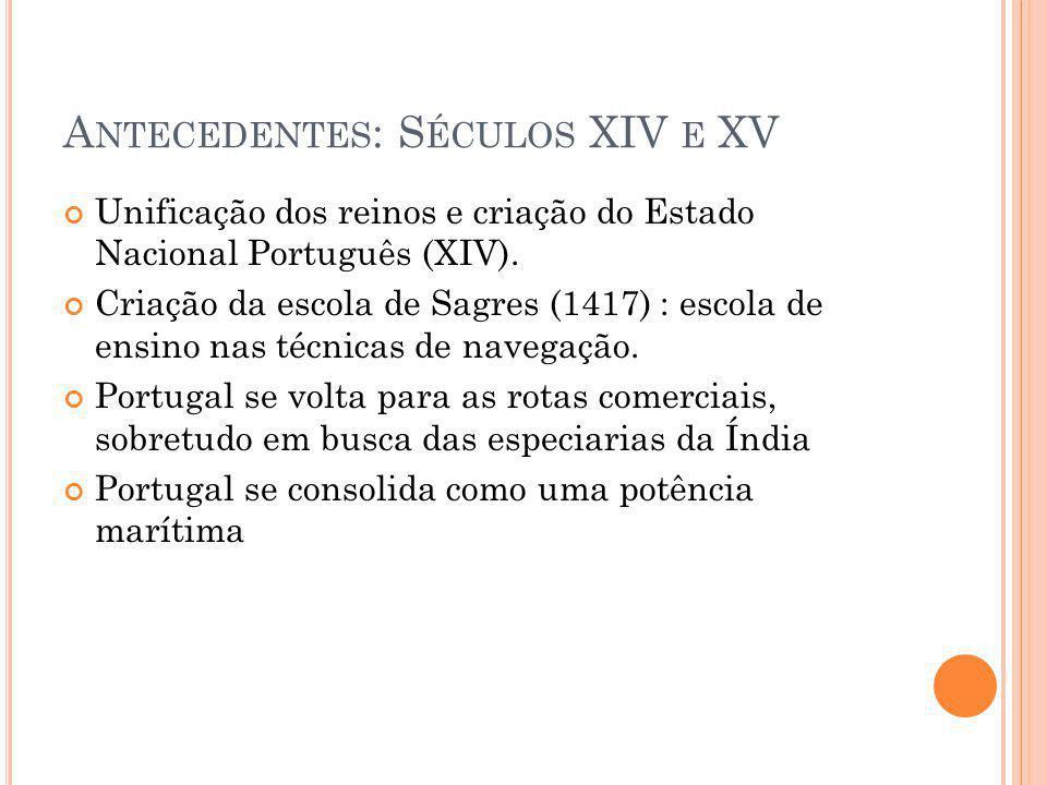 Antecedentes: Séculos XIV e XV