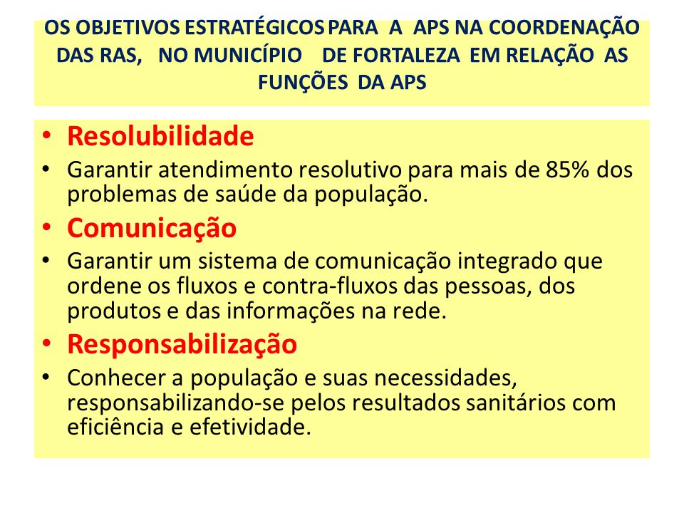 Resolubilidade Comunicação Responsabilização
