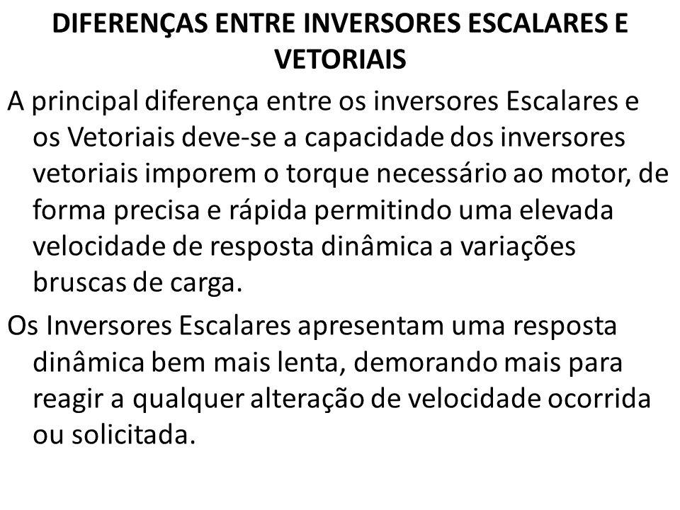DIFERENÇAS ENTRE INVERSORES ESCALARES E VETORIAIS