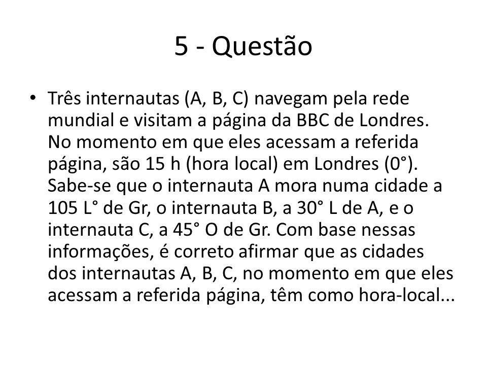 5 - Questão