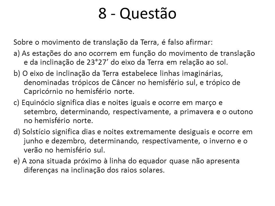 8 - Questão