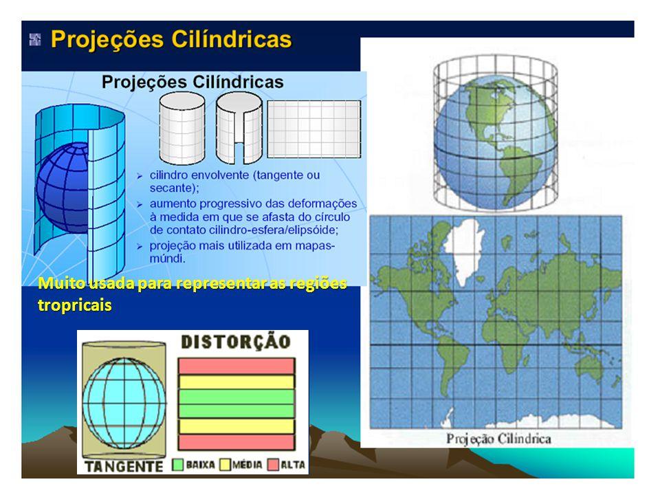 Muito usada para representar as regiões tropricais
