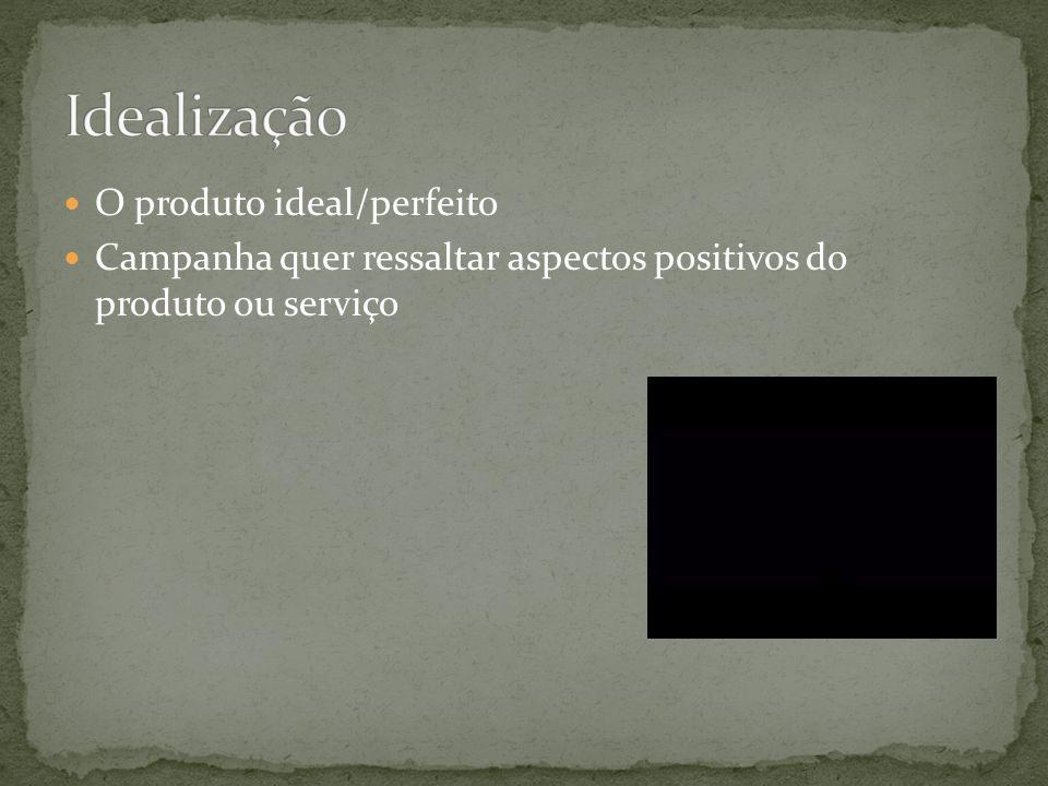 Idealização O produto ideal/perfeito