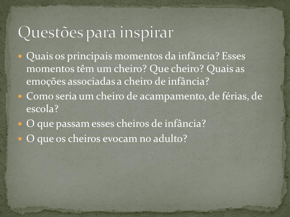 Questões para inspirar