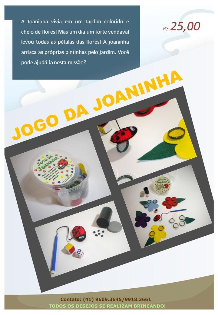 A Joaninha vivia em um Jardim colorido e cheio de flores