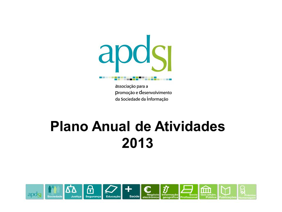 Plano Anual de Atividades 2013