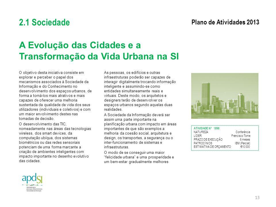 A Evolução das Cidades e a Transformação da Vida Urbana na SI