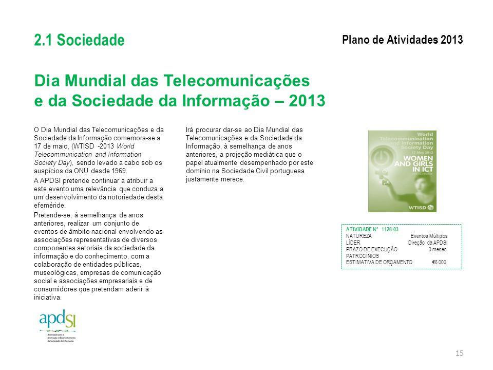 Dia Mundial das Telecomunicações e da Sociedade da Informação – 2013