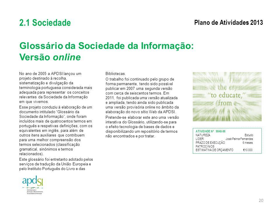 Glossário da Sociedade da Informação: Versão online