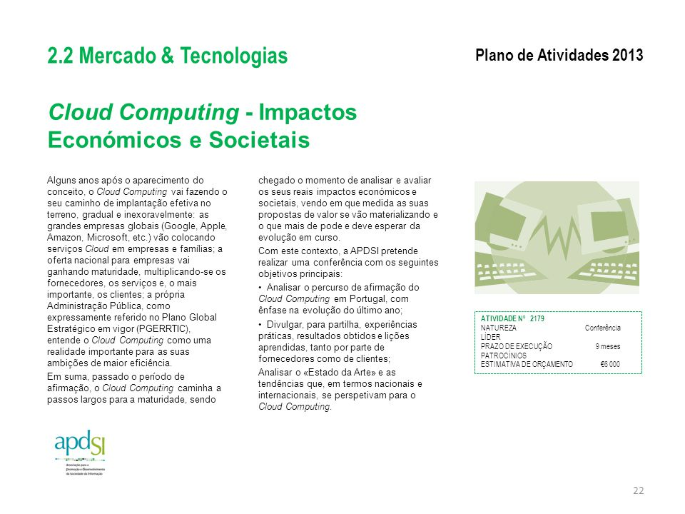 Cloud Computing - Impactos Económicos e Societais
