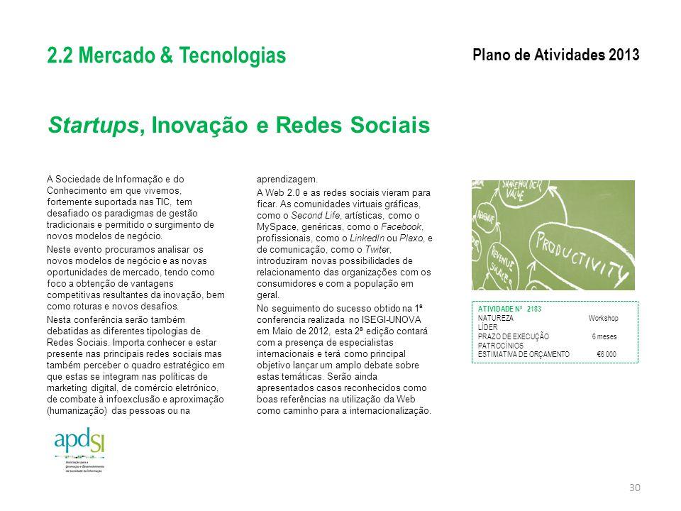 Startups, Inovação e Redes Sociais