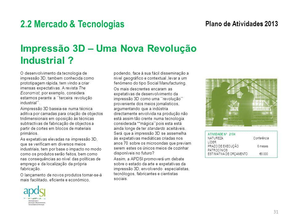 Impressão 3D – Uma Nova Revolução Industrial
