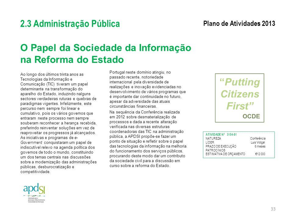 O Papel da Sociedade da Informação na Reforma do Estado