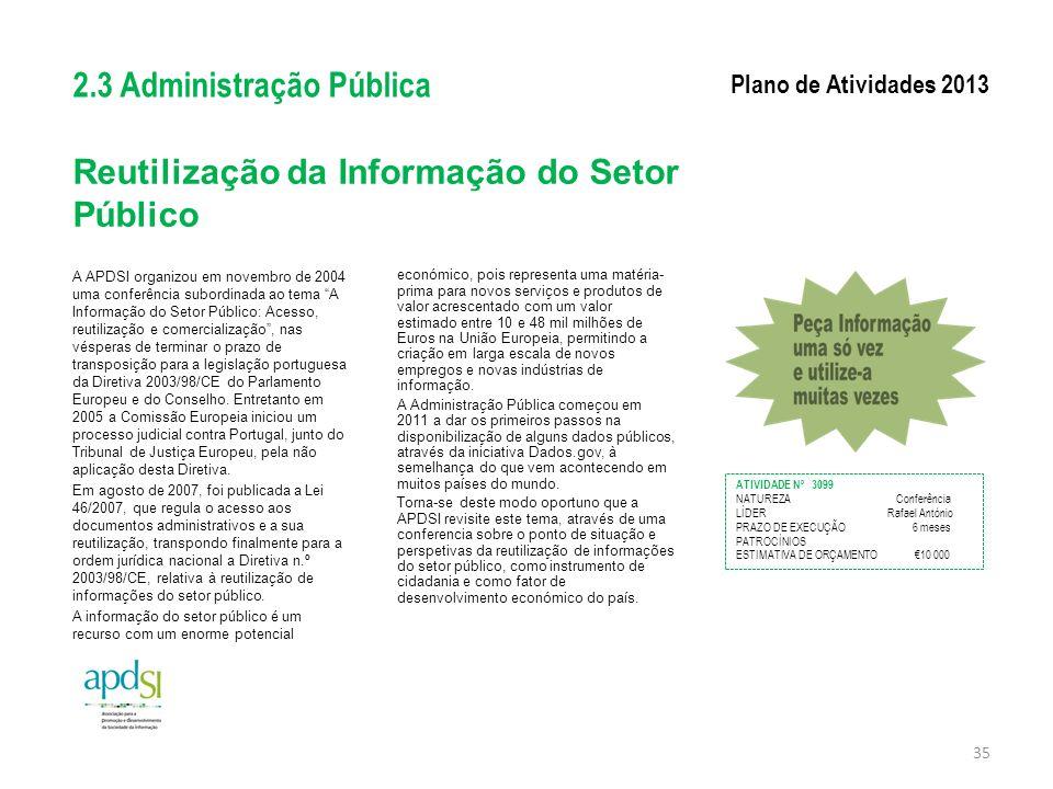 Reutilização da Informação do Setor Público