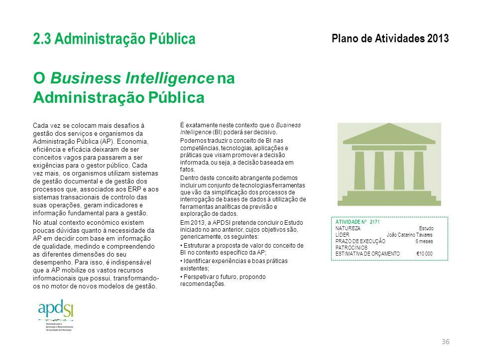 O Business Intelligence na Administração Pública