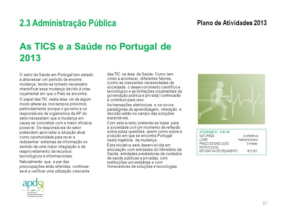 As TICS e a Saúde no Portugal de 2013