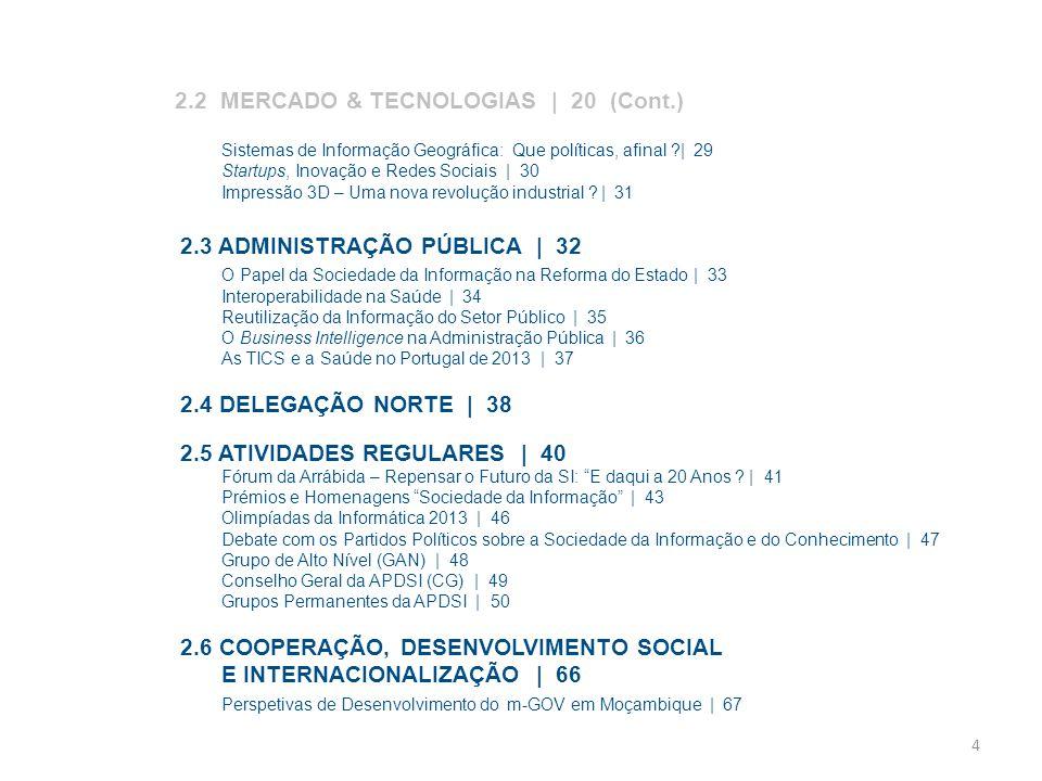2.2 MERCADO & TECNOLOGIAS | 20 (Cont.)