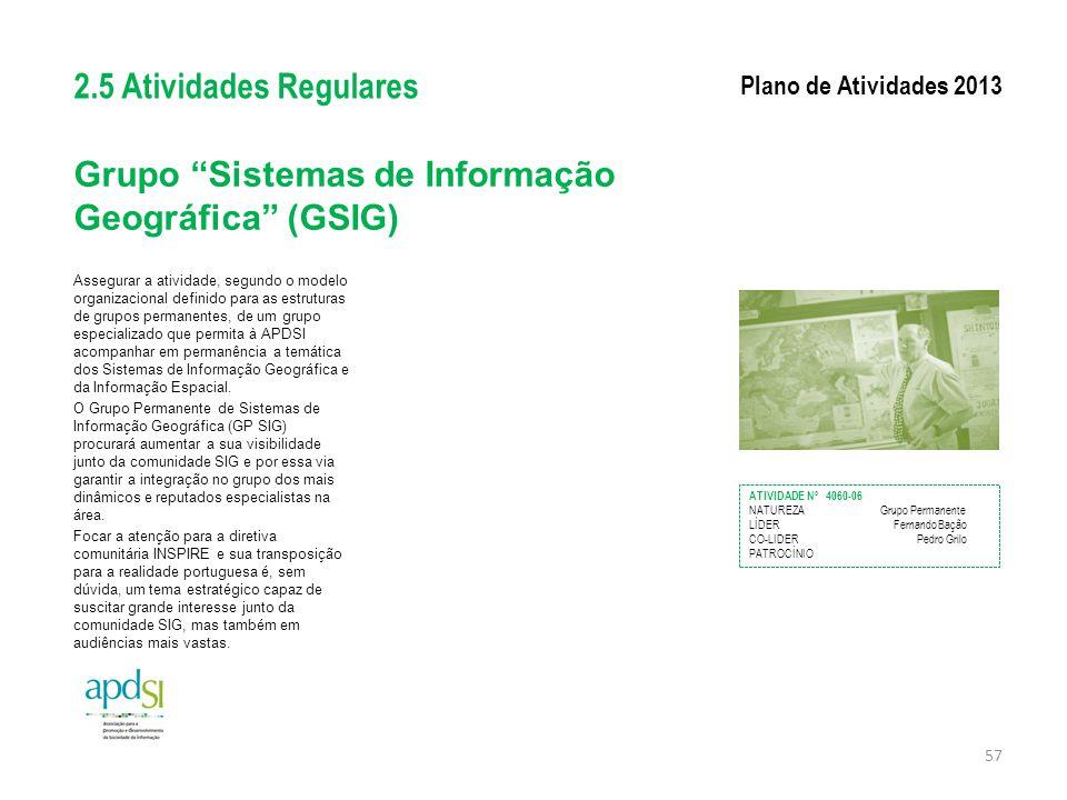 Grupo Sistemas de Informação Geográfica (GSIG)