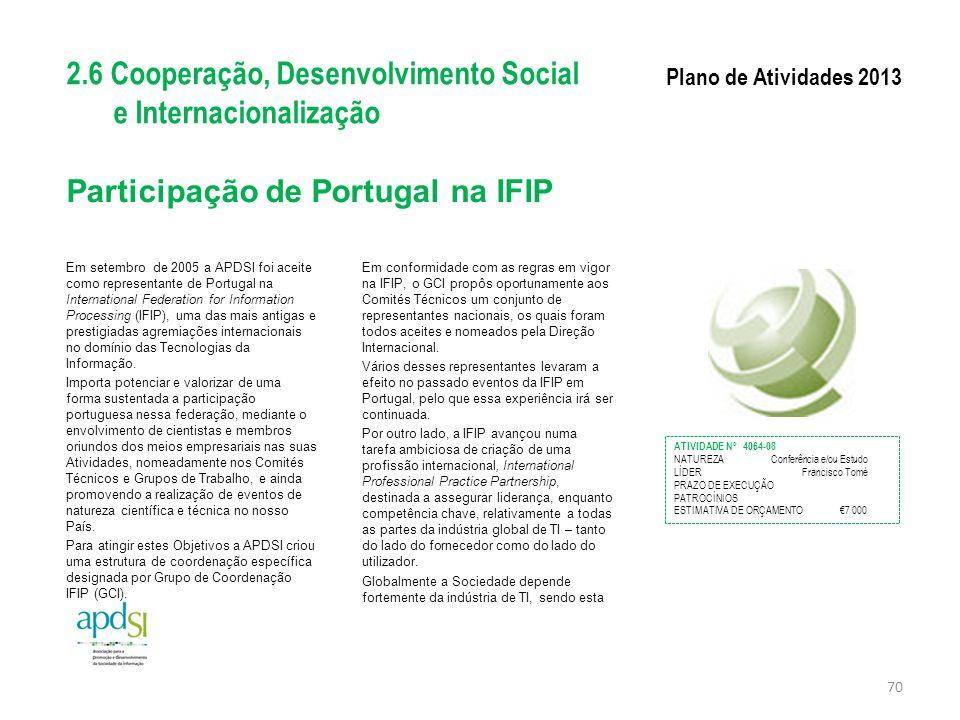 Participação de Portugal na IFIP