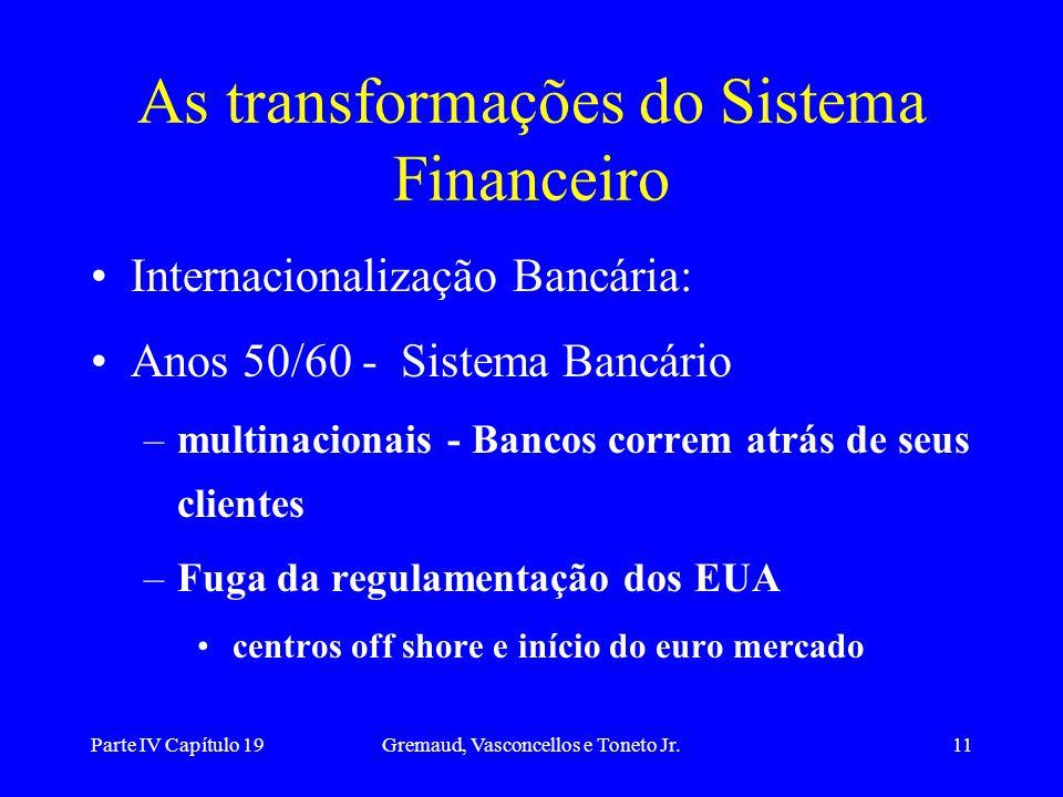 As transformações do Sistema Financeiro