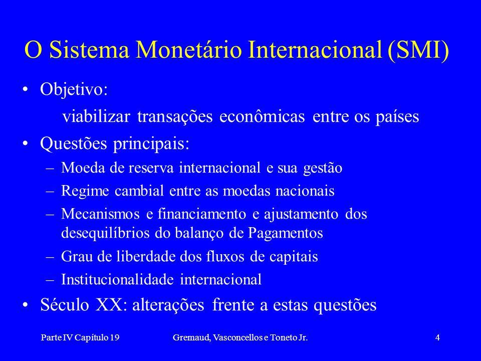 O Sistema Monetário Internacional (SMI)