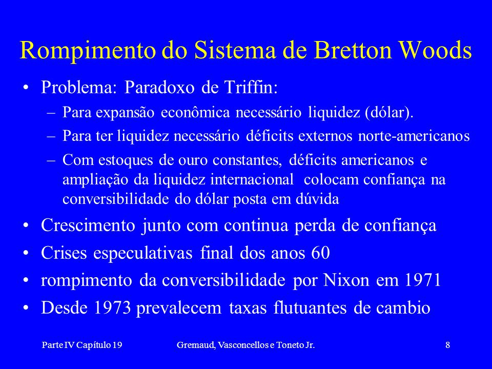 Rompimento do Sistema de Bretton Woods