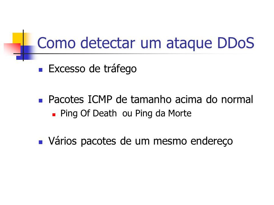 Como detectar um ataque DDoS