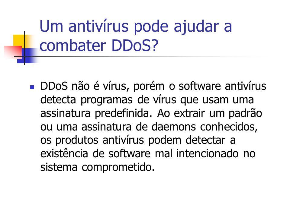 Um antivírus pode ajudar a combater DDoS