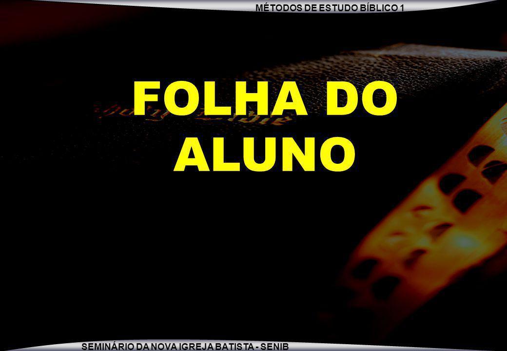 FOLHA DO ALUNO