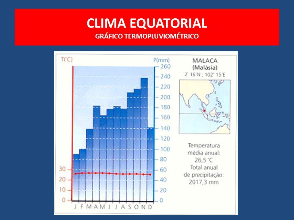 CLIMA EQUATORIAL GRÁFICO TERMOPLUVIOMÉTRICO